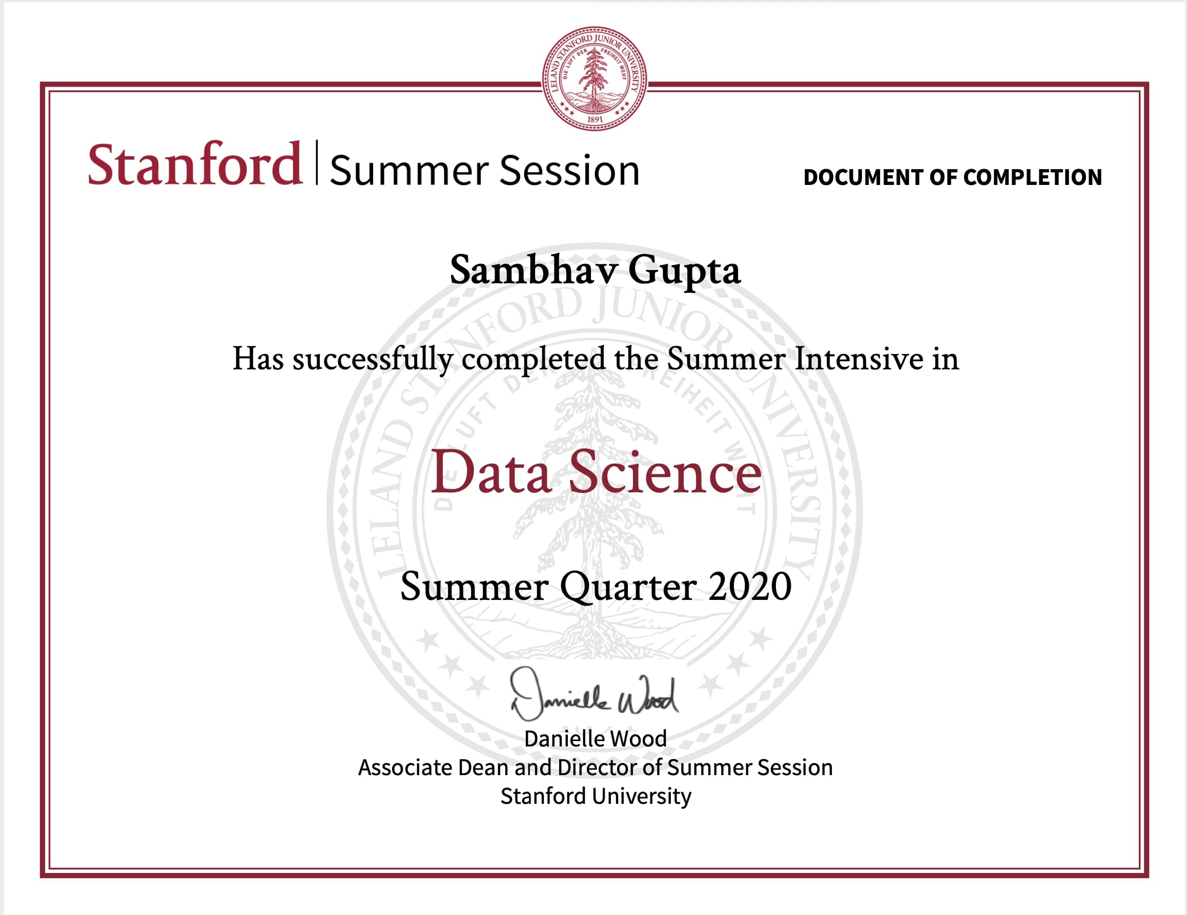 Intensive stanford